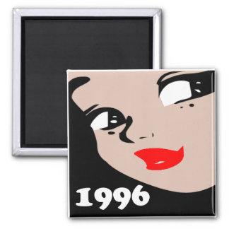 14th Birthday Gifts, 1996 Girl Square Magnet