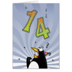 14th Birthday - Penguin Surprise Card