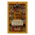 14th Century Passover Haggadah Poster