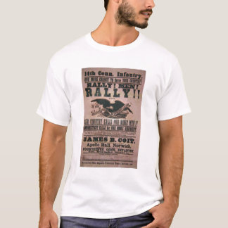 14th Connecticut Infantry Recruitment Poster T-Shirt