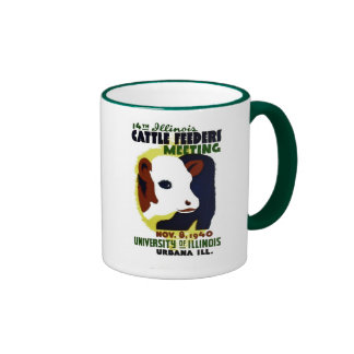 14th Illinois Cattle Feeders Meeting - WPA Poster Mugs