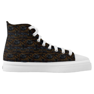 14th Pattern; Faux Fur Texture High Tops