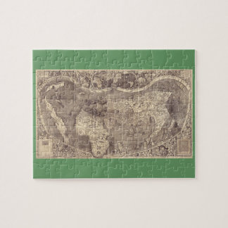 1507 Martin Waldseemuller World Map Jigsaw Puzzle