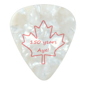 150 years of Canada Pearl Celluloid Guitar Pick