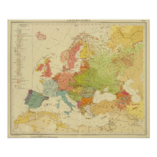 1516 European ethnographic Poster