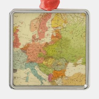 1516 European ethnographic Silver-Colored Square Decoration