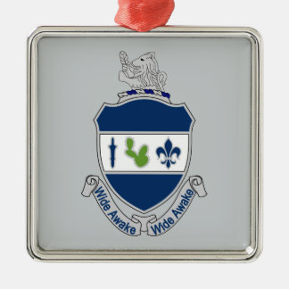 151st Infantry Regiment - Wide Awake Silver-Colored Square Decoration