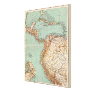 15354 Central America, Colombia Canvas Print