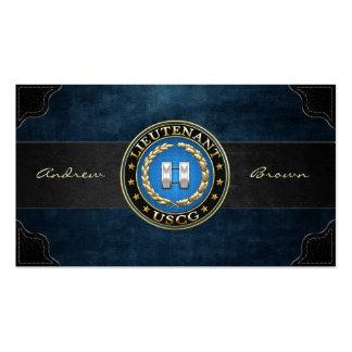 [154] Coast Guard: Lieutenant (LT) Business Card Templates
