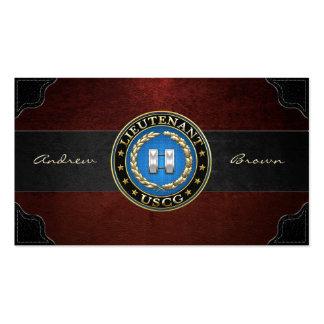 [154] Coast Guard: Lieutenant (LT) Business Card Template