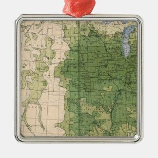 154 Corn/sq mile Christmas Ornament