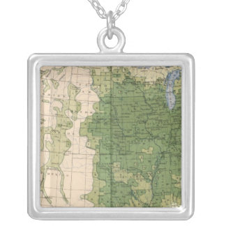 154 Corn/sq mile Silver Plated Necklace