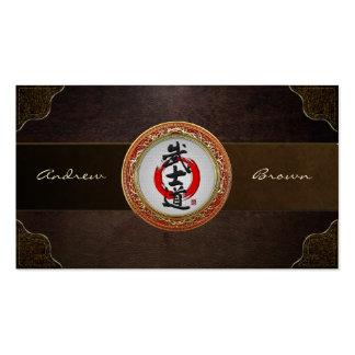 [154] Japanese Calligraphy - Bushido Business Card Templates