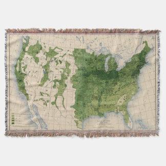 155 Corn/acre Throw Blanket
