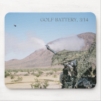 155mm Howitzer, GOLF BATTERY, 3/14 Mouse Mat