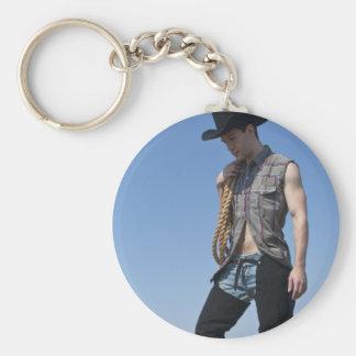 15605-RA Cowboy Basic Round Button Key Ring