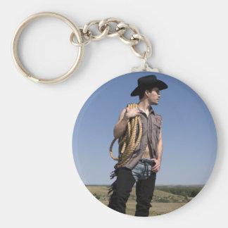 15614-RA Cowboy Basic Round Button Key Ring