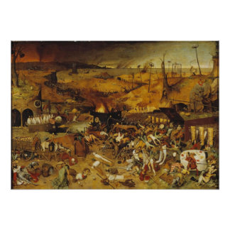 1562 Plague Painting Poster