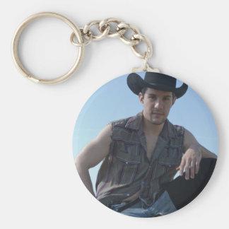 15631-RA Cowboy Basic Round Button Key Ring