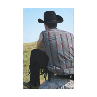 15649-RA Cowboy Stretched Canvas Prints