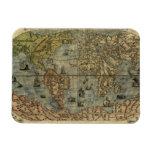 1565 Ferando Berteli (Fernando Bertelli) World Map Rectangular Magnets