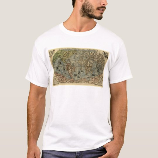 1565 Ferando Berteli (Fernando Bertelli) World Map T-Shirt