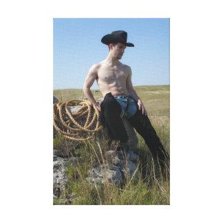 15693-RA Cowboy Canvas Print
