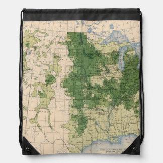 156 Wheat/sq mile Drawstring Bag