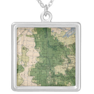 156 Wheat/sq mile Silver Plated Necklace