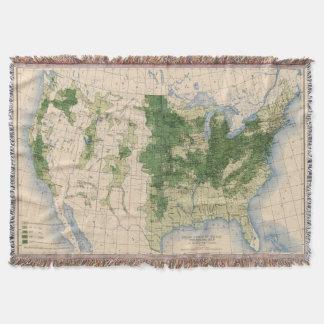 156 Wheat/sq mile Throw Blanket