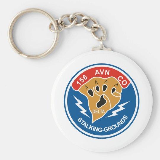 156th AVN Co Basic Round Button Key Ring