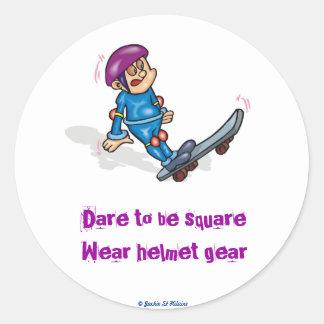 15771511[1]Dare to be square Round Sticker