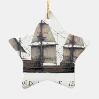 1578 Golden Hinde ship Christmas Ornament