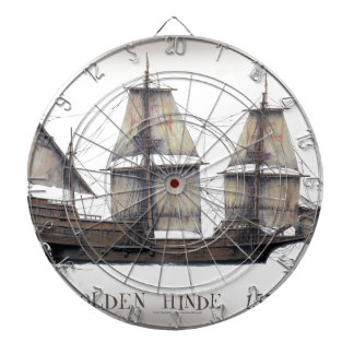 1578 Golden Hinde ship Dartboard