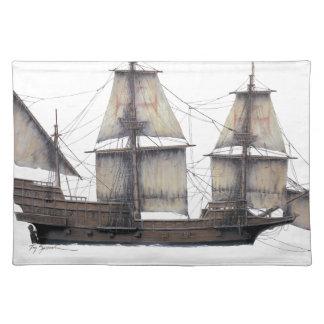 1578 Golden Hinde ship Placemat