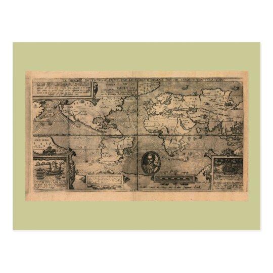 1581 Antique World Map by Nicola van Sype