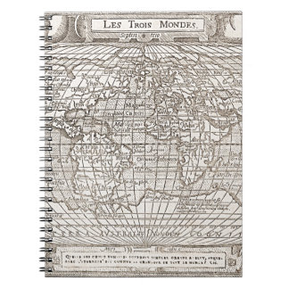 1582 Antique World Map Notebooks
