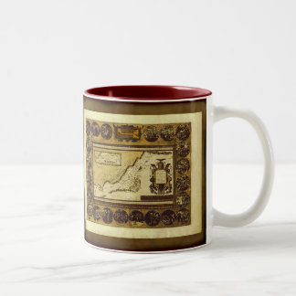 1586 Patriarch Abraham Antique Map Series Two-Tone Mug
