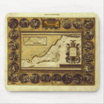 1586 VINTAGE HOLYLANDS MAP Mousepad