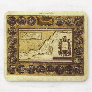 1586 VINTAGE HOLYLANDS MAP Mousepad