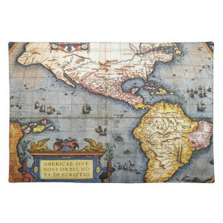 1587 Map of the Americas Placemat