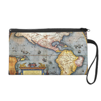 1587 Map of the Americas Wristlet