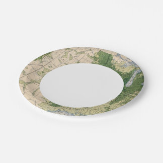 158 Oats/sq mile 7 Inch Paper Plate
