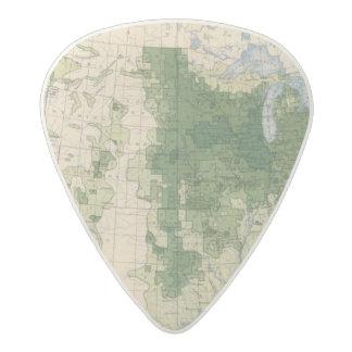 158 Oats/sq mile Acetal Guitar Pick