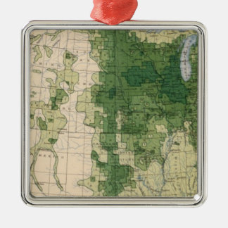 158 Oats/sq mile Christmas Ornament