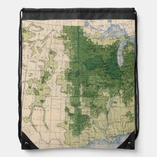 158 Oats/sq mile Drawstring Bag