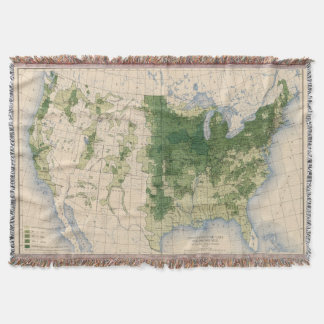 158 Oats/sq mile Throw Blanket