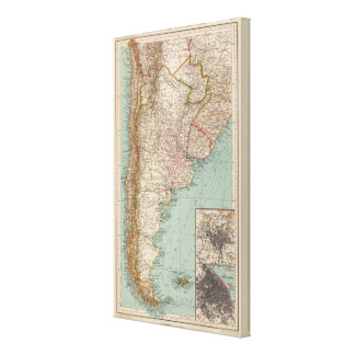 159 Argentina and Chile Canvas Print