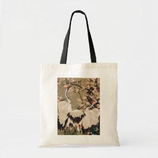 15. 梅花群鶴図, 若冲 Plum Blossoms & Cranes, Jakuchū