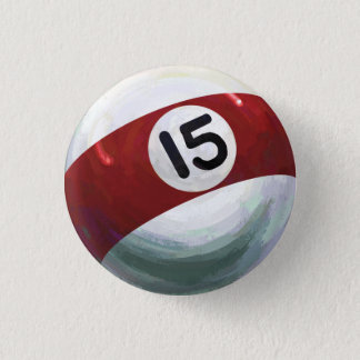 15 Ball 3 Cm Round Badge